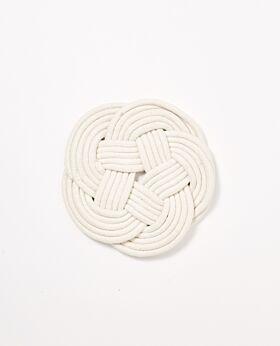 Marlon cotton rope trivet - cream