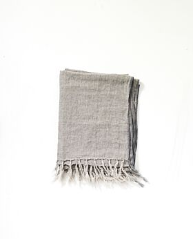 Maxime linen throw - grey