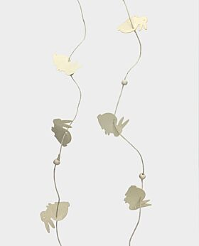 Meadow bunny garland - white