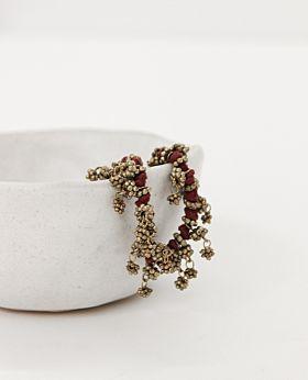 Mirielle bracelet - red & gold