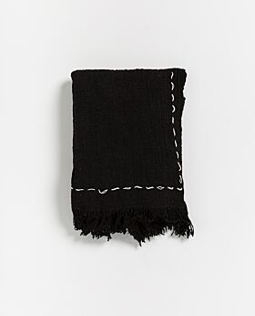 Mora throw - black