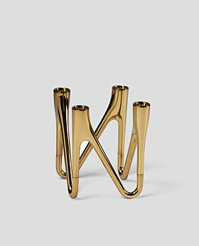 Morso roots candelabra 4 - brass