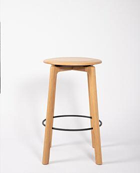 Noah oak bar stool - natural