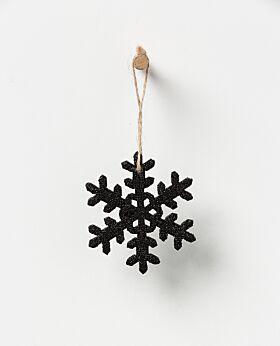 Noir hanging snowflake - black set of 3