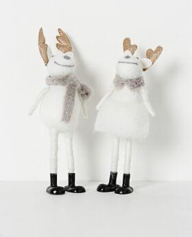 Noir standing reindeer with black boots