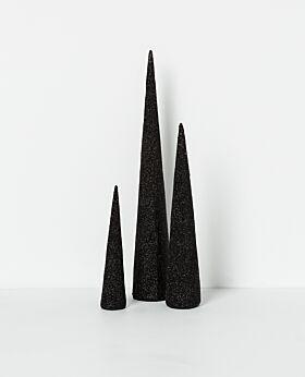 Noir standing cone tree black