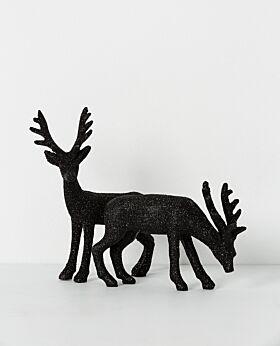 Noir standing reindeer black