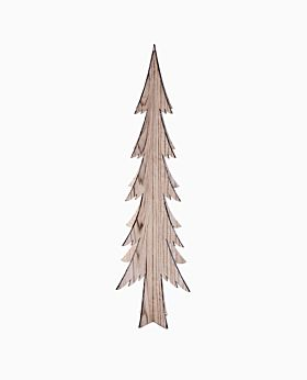 North Pole Nordic standing 3D tree w silver edge - large