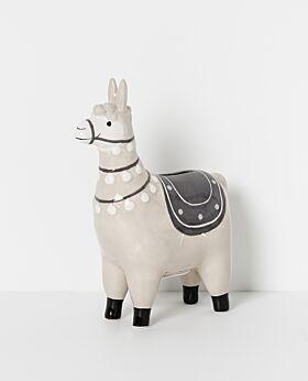 North Pole ceramic llama money box