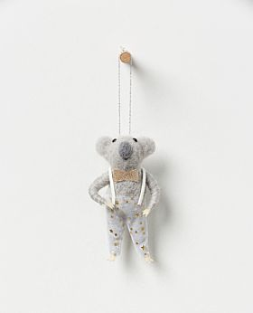 Starlight hanging koala boy with champagne bow