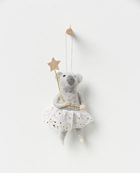 Starlight hanging koala girl with champagne star