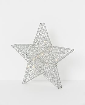 North Pole standing star silver sparkle