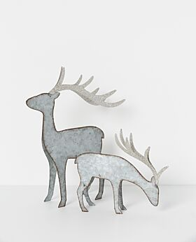 North Pole standing reindeer - silver
