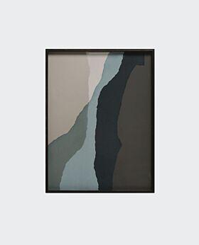 Notre Monde rectangular tray - glass wabi sabi - large