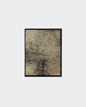 Notre Monde rectangular tray - heavy aged mirror bronze