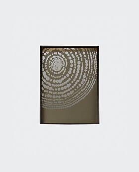 Notre Monde rectangular tray - heavy aged mirror -