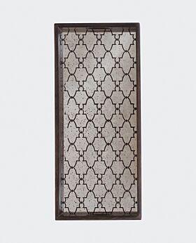 Notre Monde rectangular tray - mirrored gate