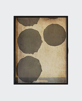 Notre Monde rectangular tray - silver dots
