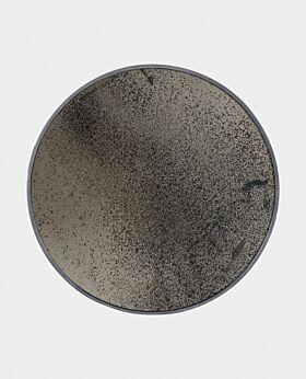 Notre Monde round heavy aged mirror- bronze