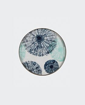 Notre Monde round tray - glass umbrellas