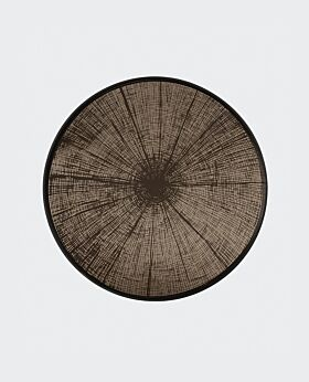 Notre Monde round tray - slice - mirrored bronze