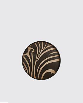 Notre Monde round tray - timber zebra print