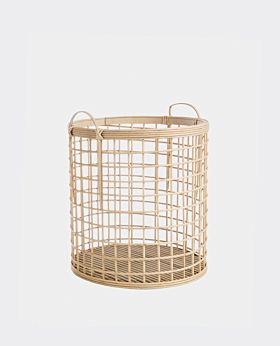 Pacific bamboo round open weave basket - large