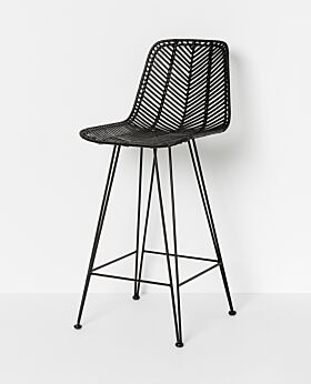 Parker bar stool - black