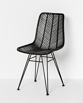 Parker dining chair - black