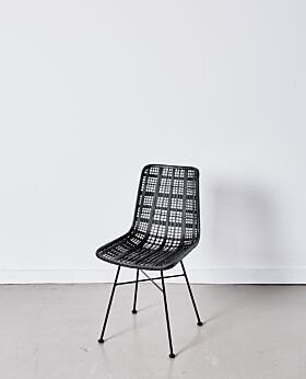 Parker dining chair lattice - black