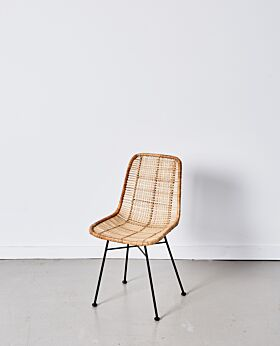Parker dining chair lattice - natural