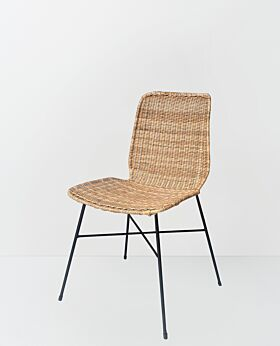 Parker dining chair solid weave stackable - natural