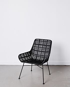 Parker occasional chair lattice - black