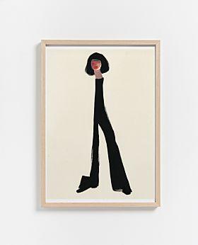 PAPER COLLECTIVE Black Pants print