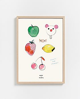 PAPER COLLECTIVE Fruits & Friends print
