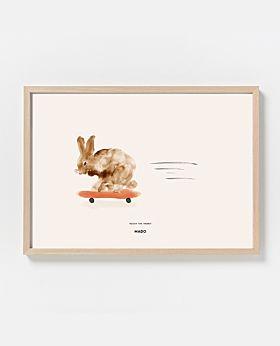 PAPER COLLECTIVE Rocky the Rabbit print - landscape
