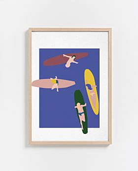 PAPER COLLECTIVE Surfers print