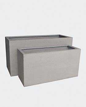 Pedra stone planter - rectangular - set of 2