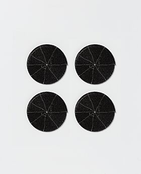 Perla coaster - black - set of 4