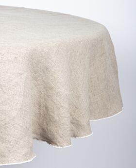 Piama linen tablecloth - natural - round