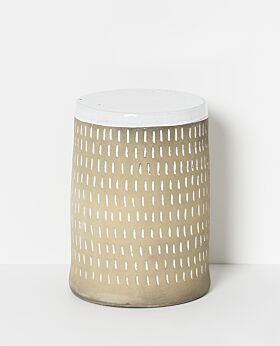 Piper ceramic stool - rain
