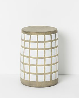 Piper ceramic stool - squared