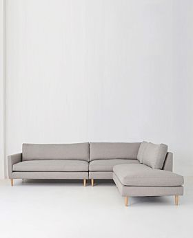 Positano 3 piece modular sofa right facing - pebble