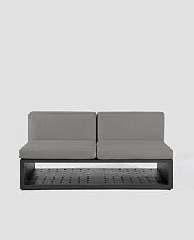Quadro armless sofa - charcoal