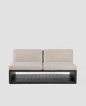 Quadro armless sofa - light grey