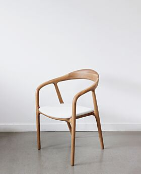 Raglan occasional/dining chair with arms oak - dove
