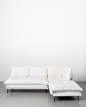 Lucas two-piece modular sofa - white