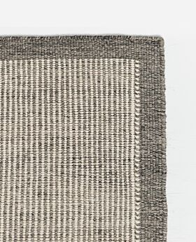 River wool rug gunmetal