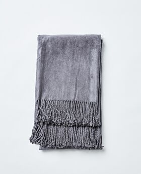 Romano bamboo throw - charcoal