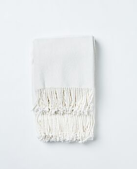 Romano bamboo throw - white